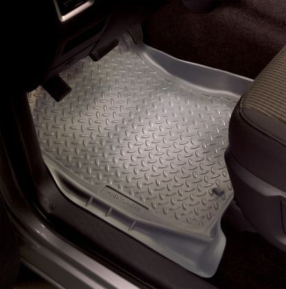 Husky Liners 2014 Ford E-450/ 1997-2014 Ford E-350 E-250 E-150 Econoline Full Size Classic Style Front Grey Floor Mat Liners