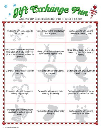 Christmas Gift Exchange Game... For my Sunday school class party. - 30 Christmas Gift Exchange Game Ideas Holiday Faves Christmas