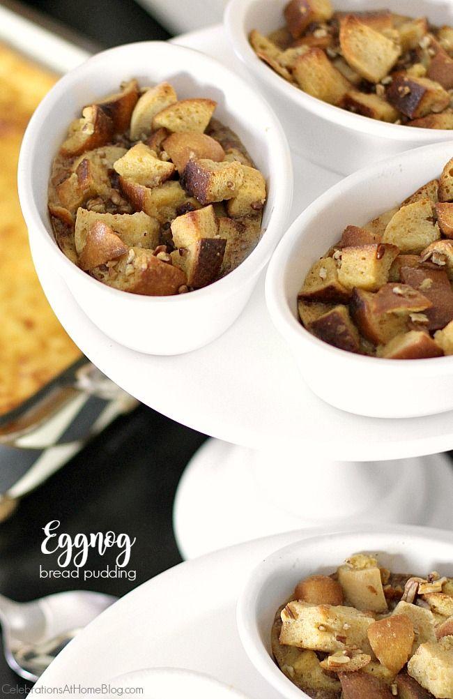 Brunch Recipe - Eggnog Bread Pudding | Eggnog bread pudding, Brunch ...