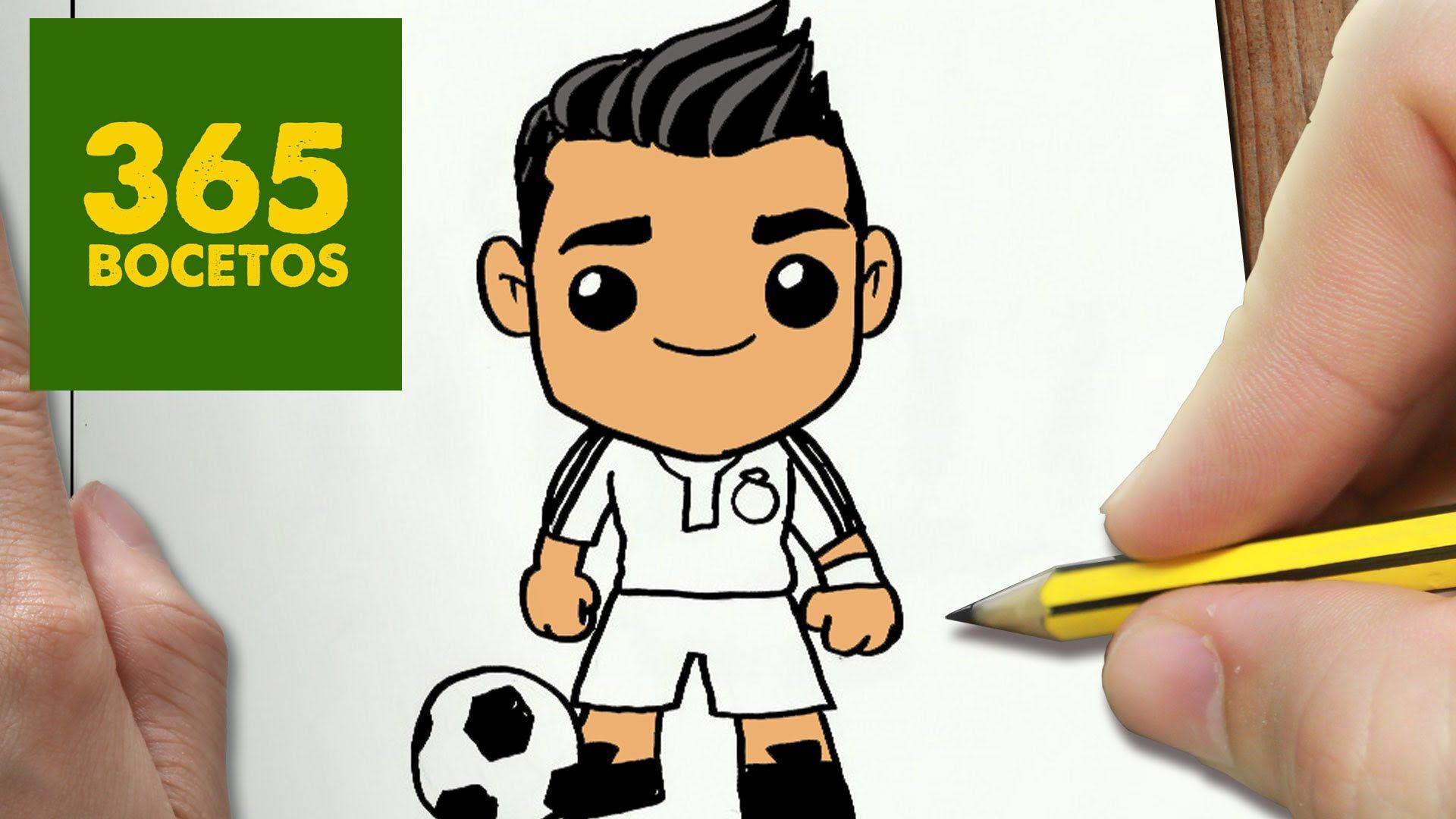 Dibujo Facil De Hacer Cristiano Ronaldo Dibujos Kawaii Faciles