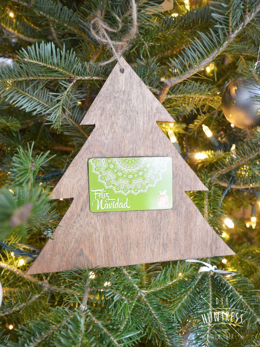 Home Depot Virtual Party Diy Christmas Tree Gift Card Holder Diy Huntress Christmas Tree Gift Card Holder Christmas Tree With Gifts Gift Card Holder Diy