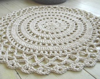 Crochet Rope Giant Doily Rug 100 Cotton Doily Rug Crochet Rug Patterns Rug Pattern