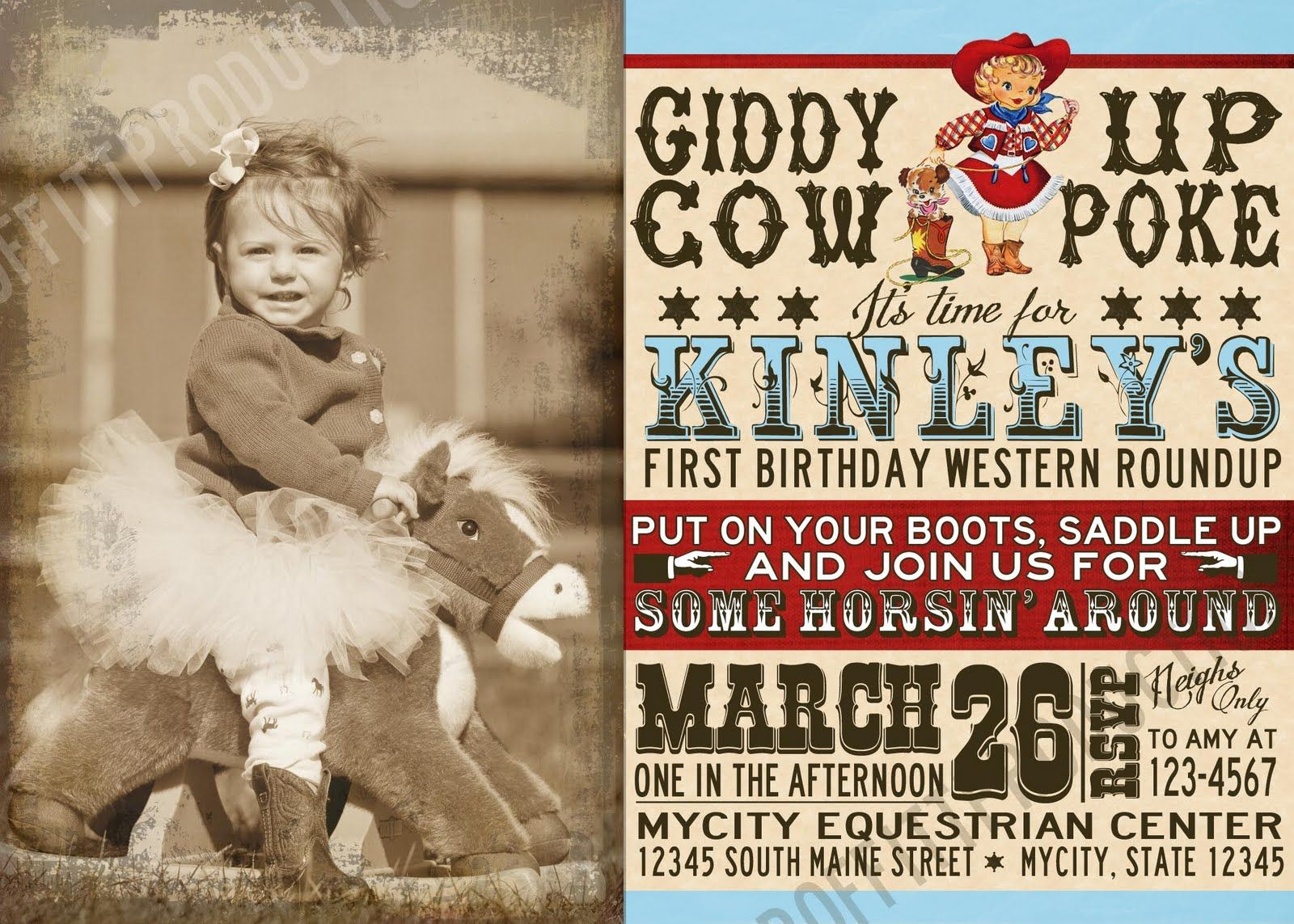 A Proffittable Life: Vintage Cowgirl Invitation