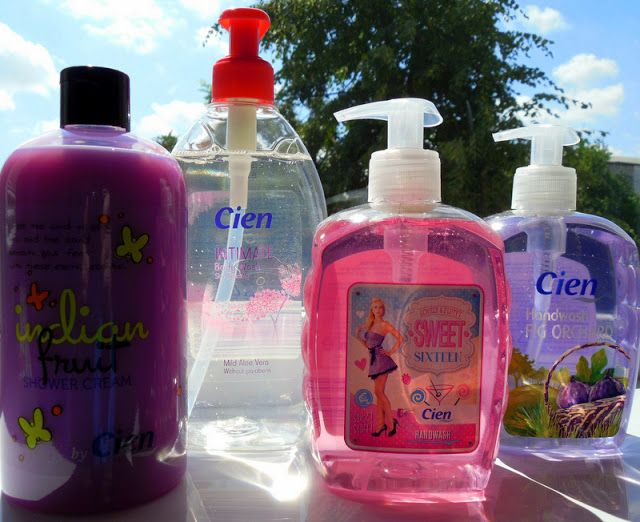 Cien Sweet Soap Shower Gel Hand Soap Bottle