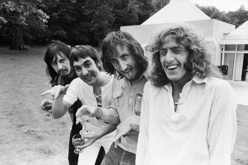 The Who Photographed at Keith Moon's House 1970 / Another great Chris Walter Photo