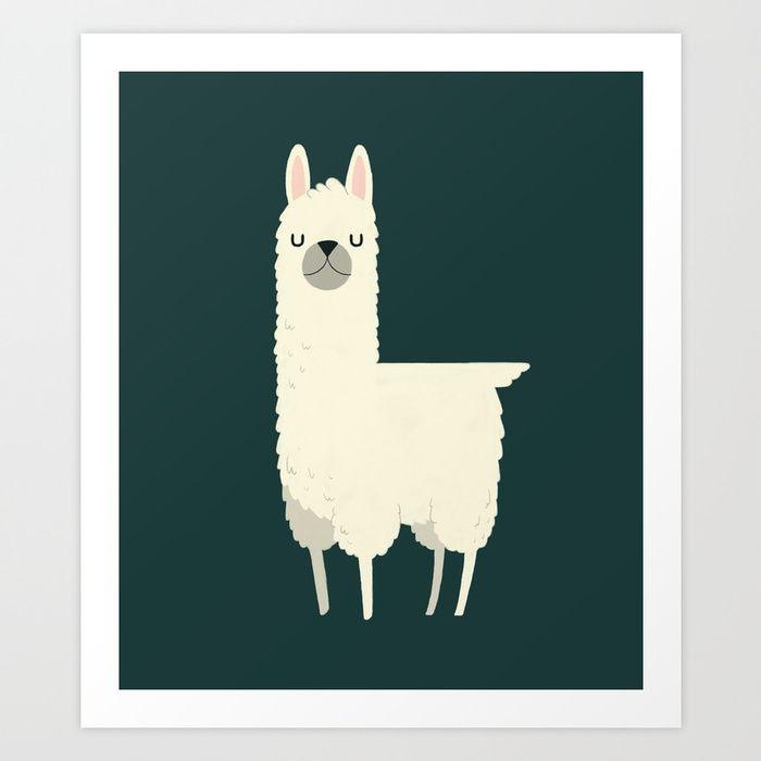 llama art nurserydecor wallart homedecor animals