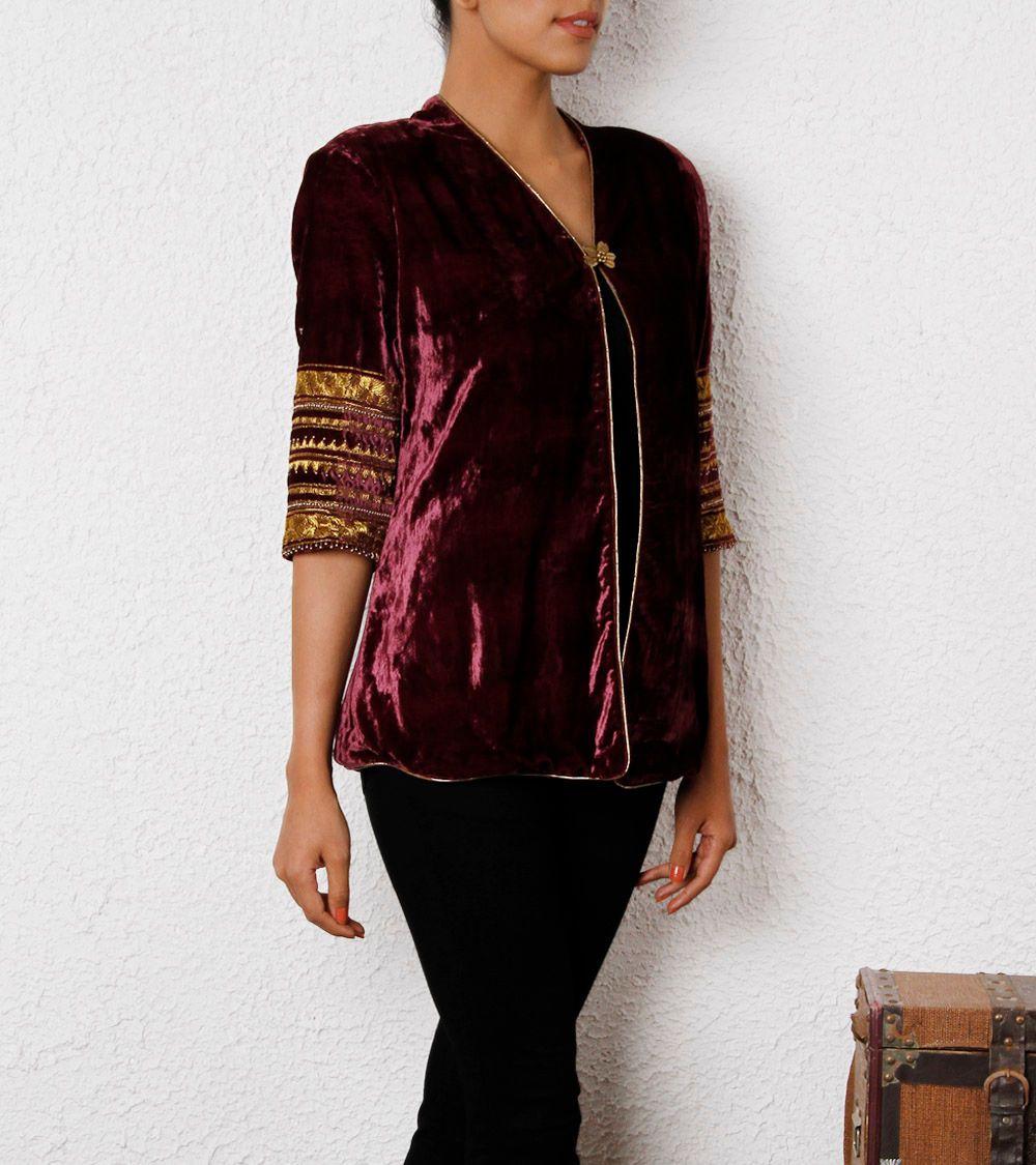 Velvet jacket indian clothes shopping pinterest velvet jacket