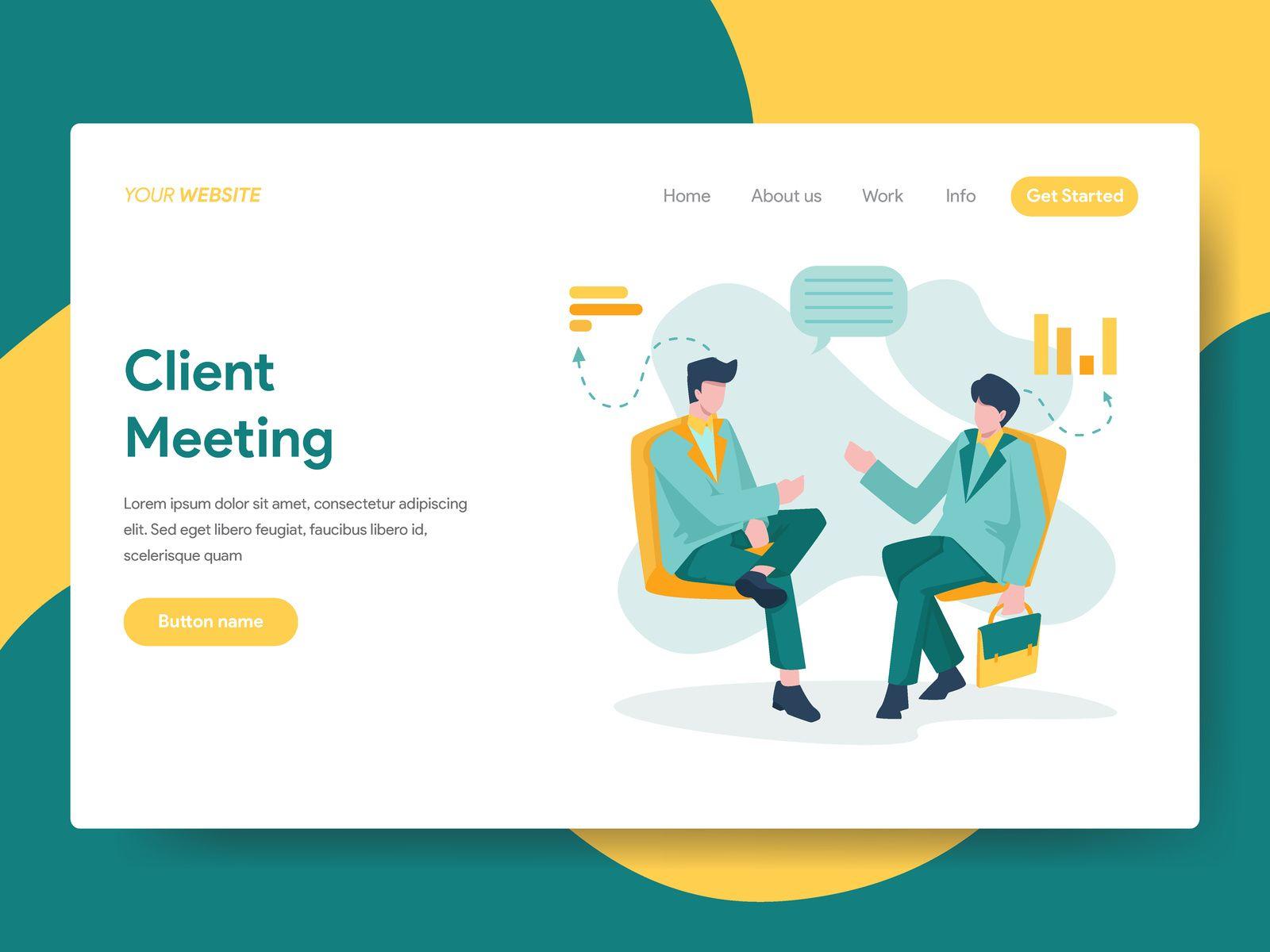 Client Meeting Illustration Web Design Web Design Trends Clean Websites