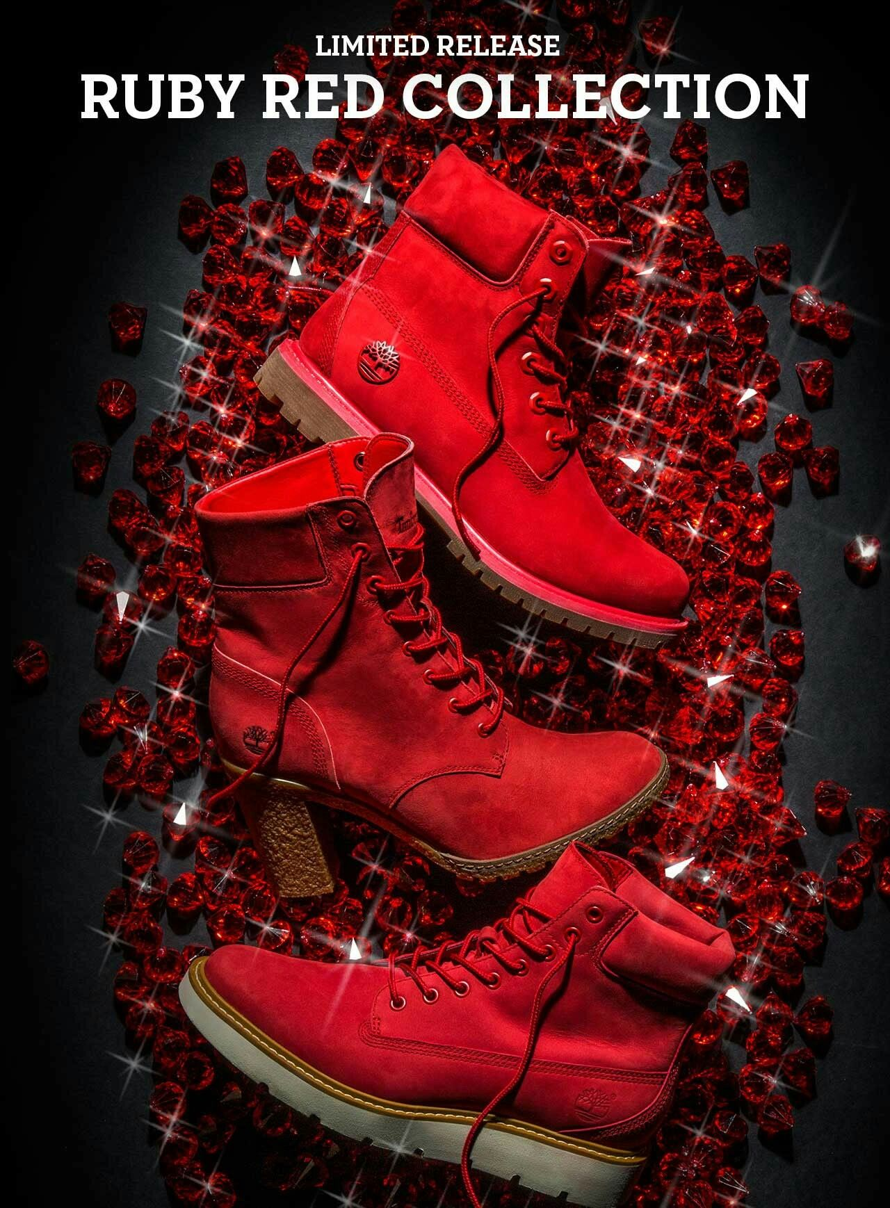 sleek big collection many fashionable Timberland Ruby Red | Colors !! in 2019 | Timberlands shoes ...