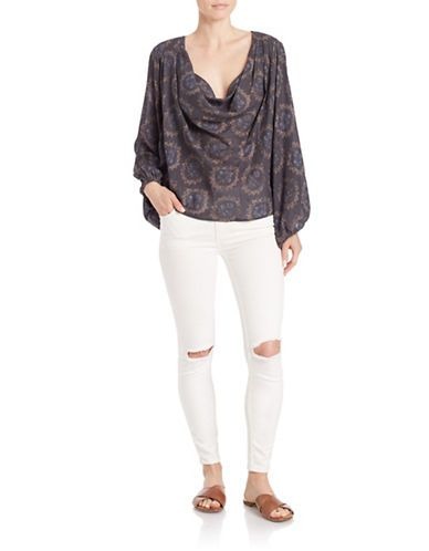 Brands Blouses Draped Floral Blouse Lord And Taylor Clothes