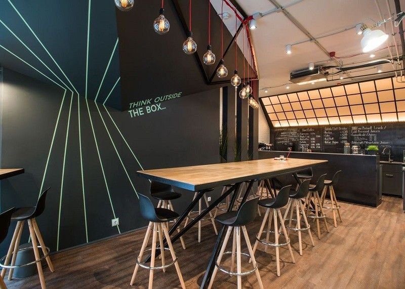 Co-working space with vibrant youthful energy in Budapest ...