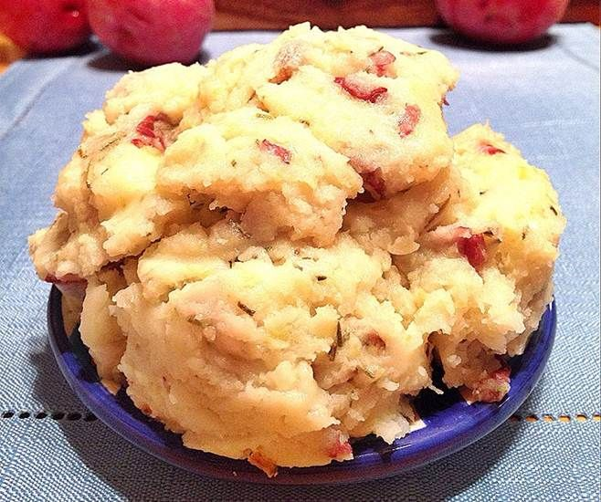 Four delicious cheeses blended into red bliss mashed potatoes, with a hint of rosemary