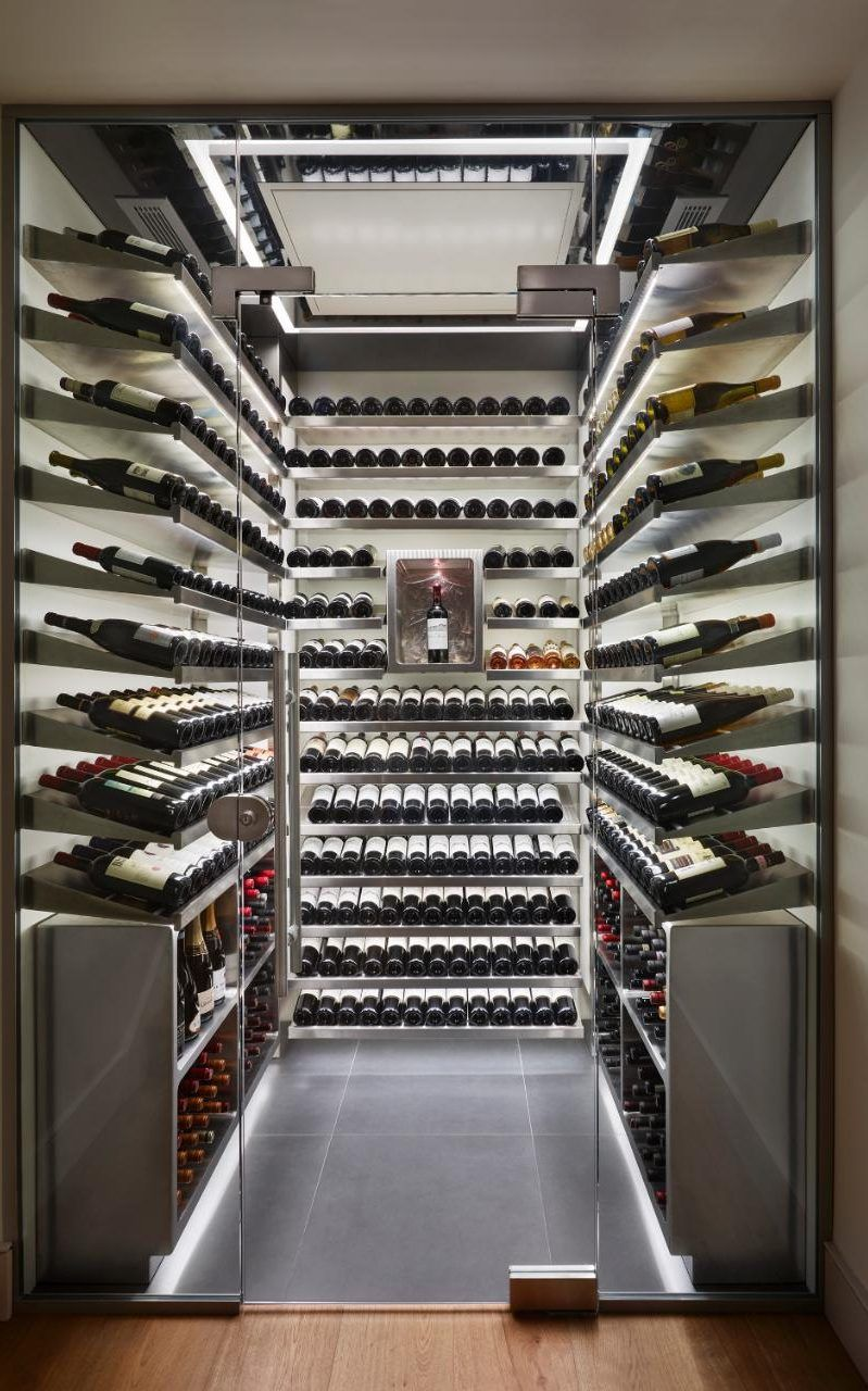 One of Spiral's walk-in wine cellars,  which cost an average of £30,000                                                                                                                                                                                 More