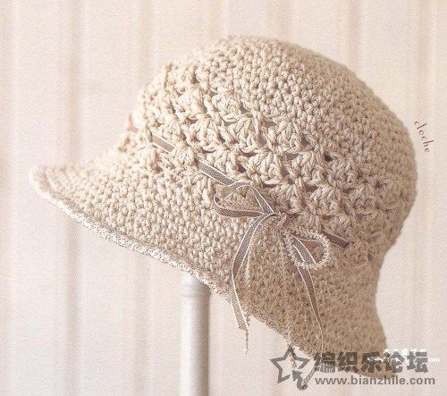 Patrones de crochet para sombreros de verano modelo calado | CROCHET ...