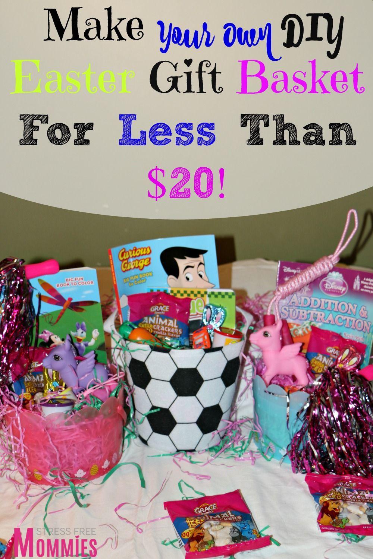 Make your own diy easter gift basket for under 20 fun diy diy easter gift basket for under 20 negle Choice Image