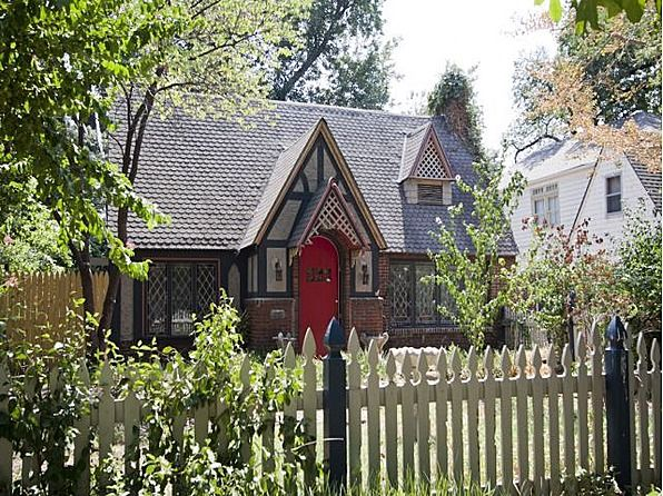 Tulsa Tudor Cottage For Sale With Red Door A Tiny