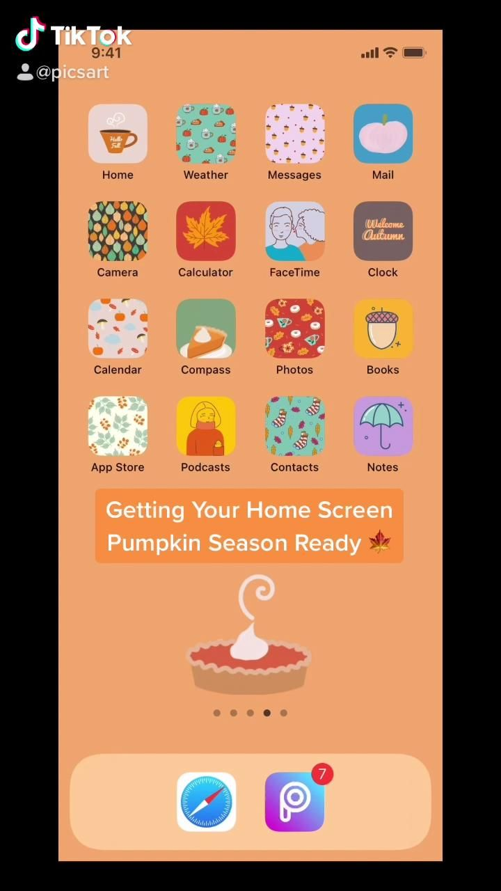 Getting Your Home Screen Ready For Fall Video In 2020 Iphone Wallpaper Picsart Tutorial Aesthetic Iphone Wallpaper