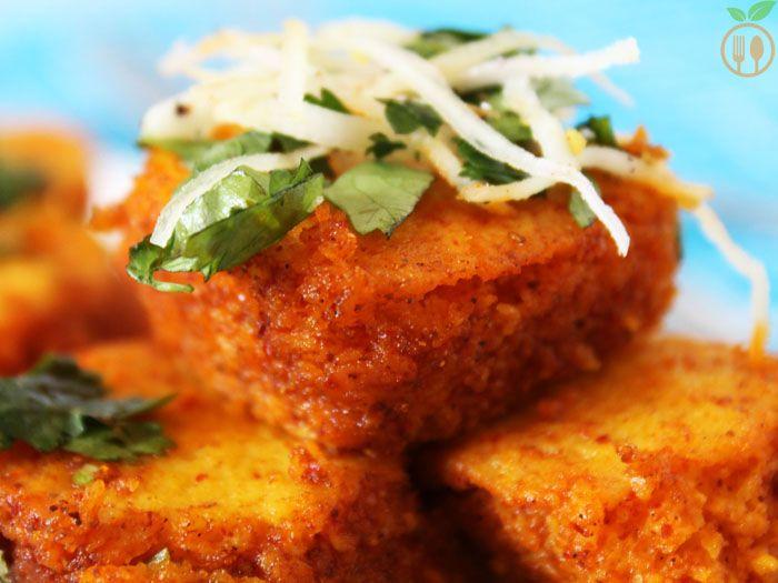 Spicy khaman dhokla recipe snacks veggie food and foods recipes spicy khaman dhokla forumfinder Images