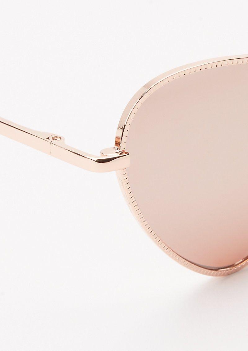 Photo of Rose Gold Heart Eye Sunglasses