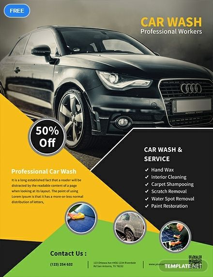 Car Wash Service Flyer Template Free
