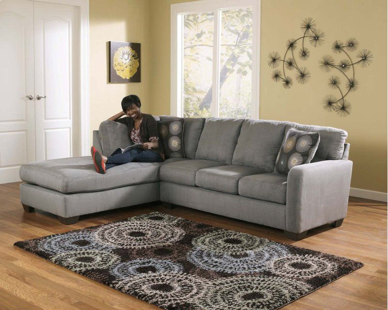 Zella Charcoal 2 Piece Sectional Sectional Sofa