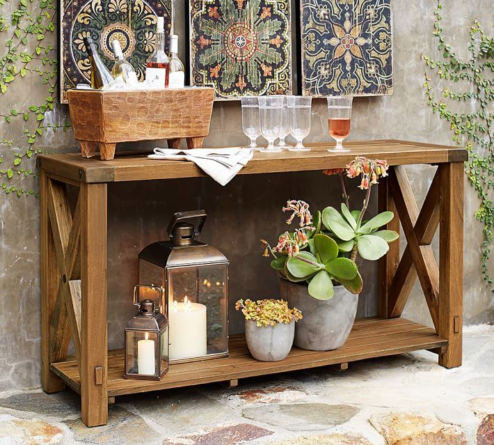 Benchwright Outdoor Console Table Outdoor Console Table Outdoor