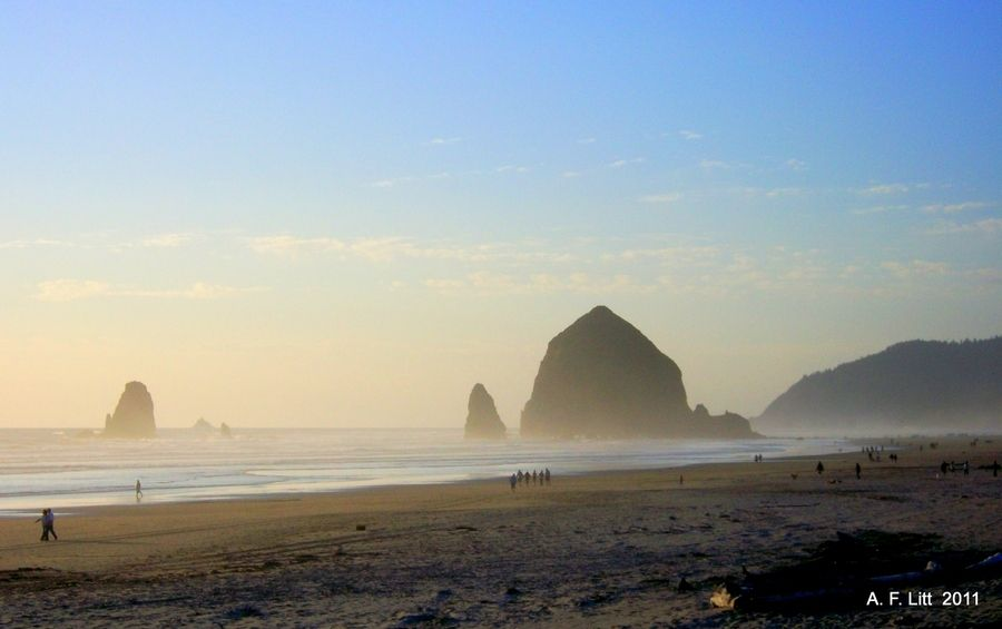 Haystack Rock From Tolovana Beach  by A. F. Litt, via 500px