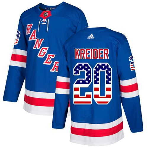 wholesale dealer 2056d f20ad ... coupon code for adidas rangers 20 chris kreider royal blue home  authentic usa flag stitched youth