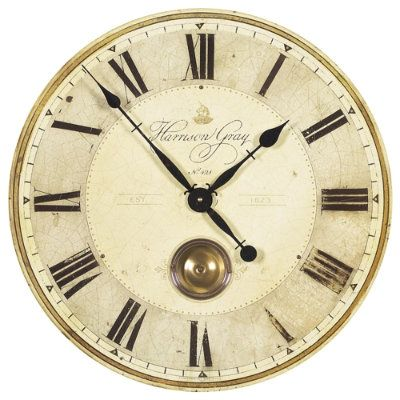 Harrison Gray Clock Ballard Designs Wall Clock Brass Pendulum Wall Clock Grey Clocks