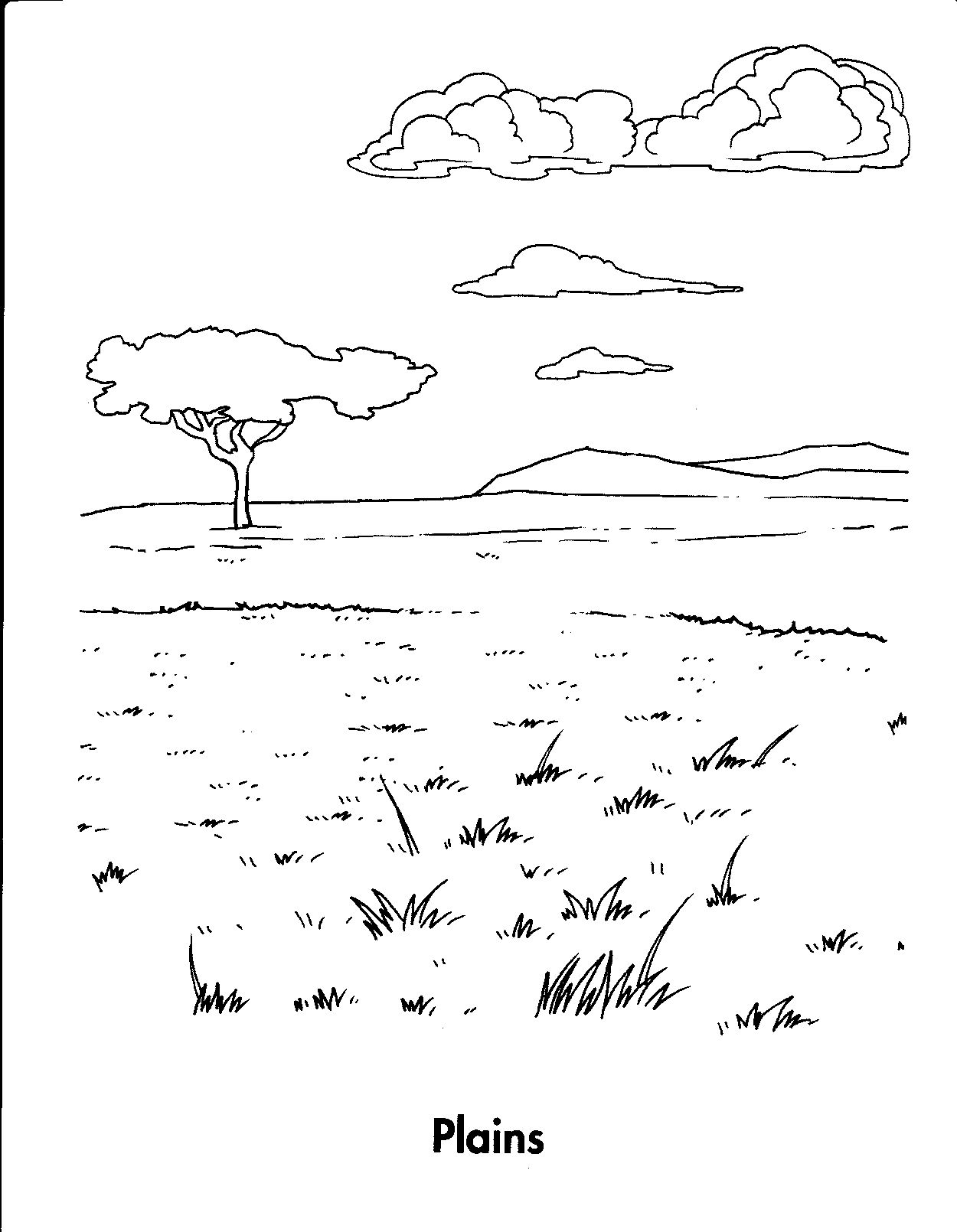 Great Plains Coloring Pages By Patrick