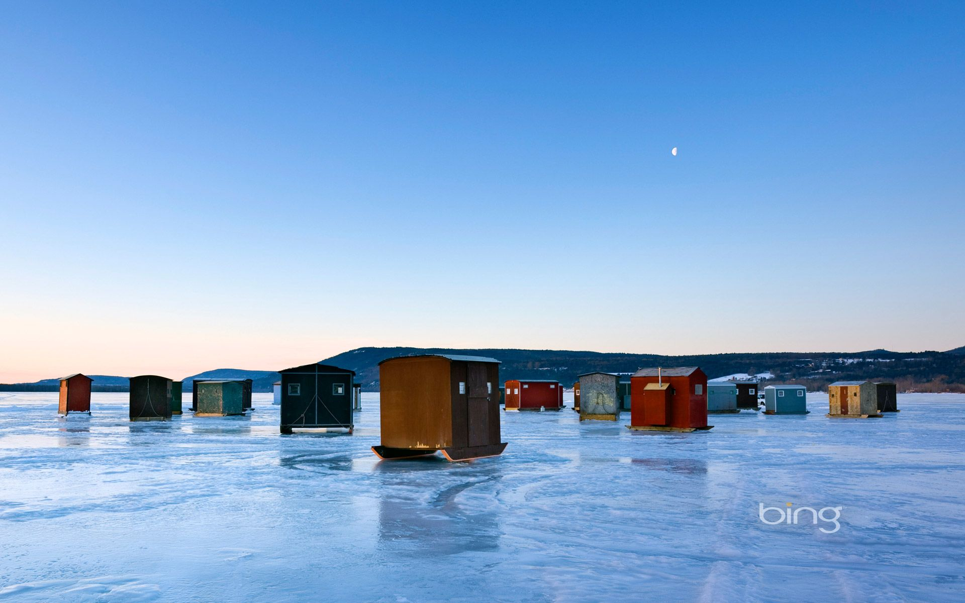 Ice Fishing Huts Lake Champlain Ny Places Pinterest