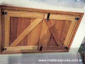 Planos puertas de parrillas de madera buscar con google - Como hacer una puerta rustica ...