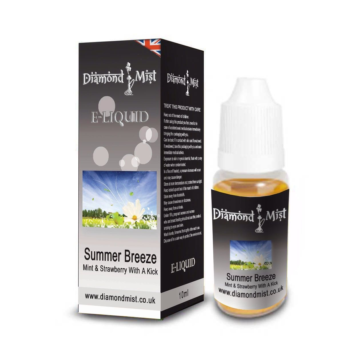 Summer Breeze Flavour E-Liquid from Diamond Mist. Nicotine strength: 0, 6, 12, 18 or 24 mg