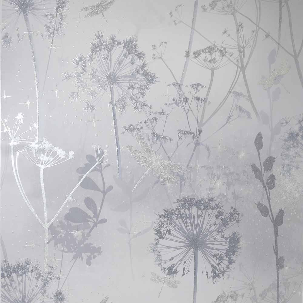Arthouse Damsenfly Silver Wallpaper in 2020 Rose gold