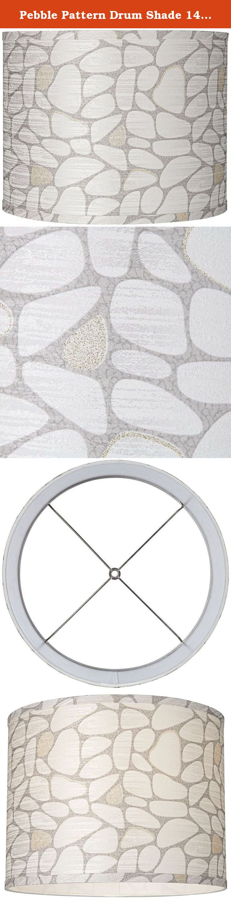 Table lamp harp sizes - Pebble Pattern Drum Shade 14x14x11 Spider Update The Look Of Any Table Lamp