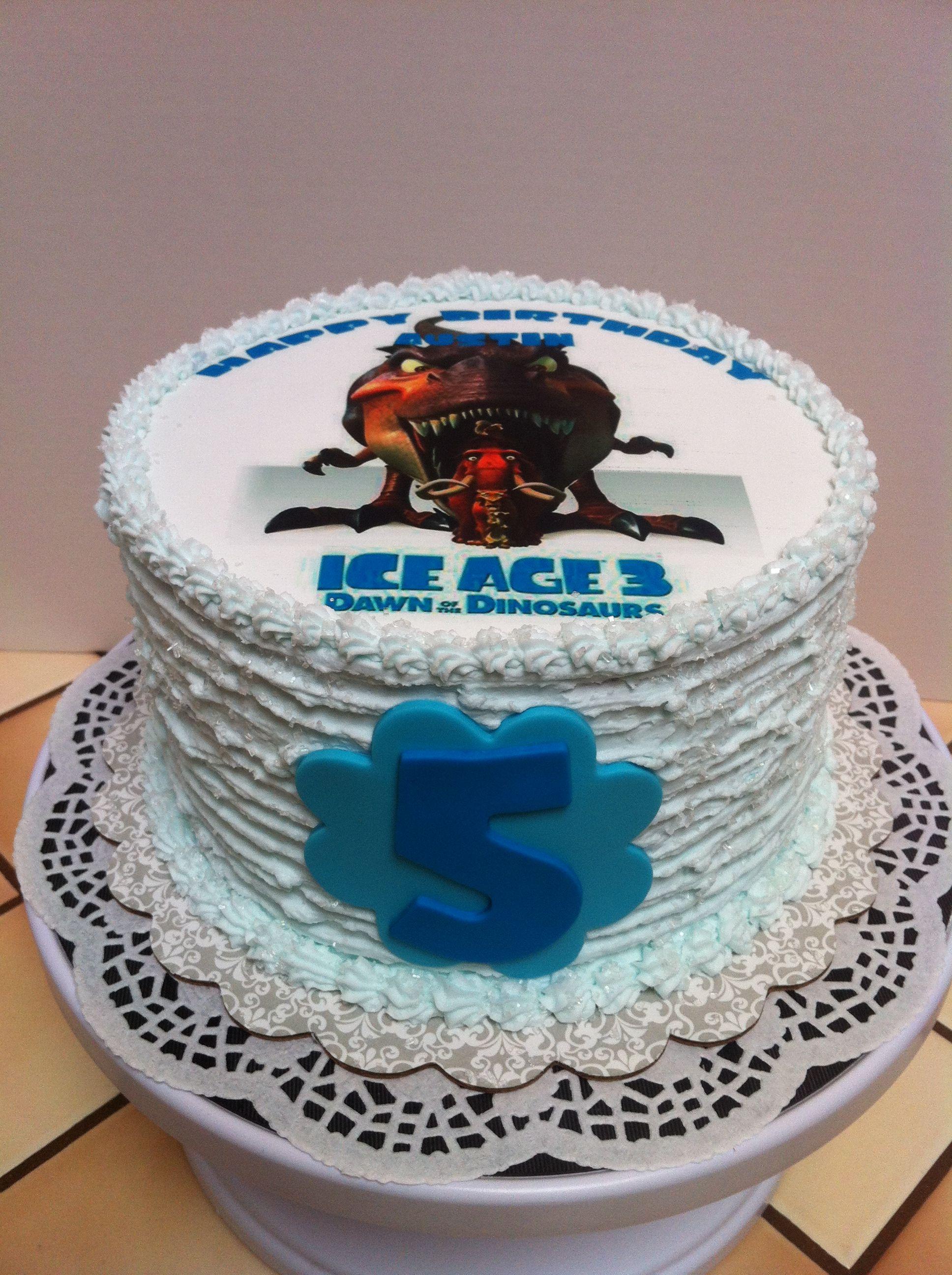 ice age birthday cake  cake animal cake kids birthday