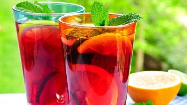 Fruit punch in glasses