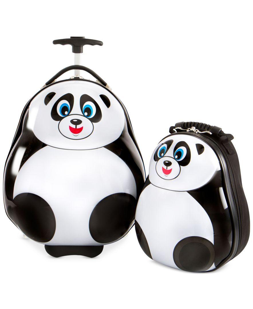 Image result for Heys travel Tots Panda 2PC Luggage & Backpack Set