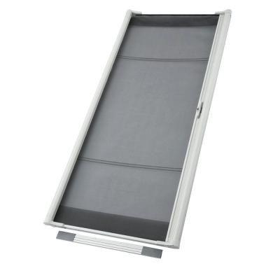 Odl 36 In X 80 In Brisa White Standard Retractable Screen Door Zsmw03 The Home Depot Retractable Screen Door Retractable Screen Diy Screen Door