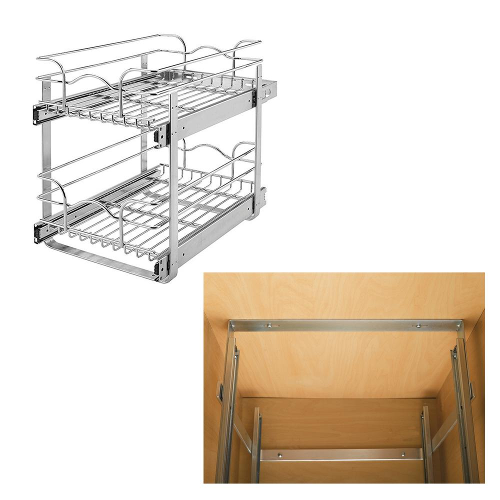 Rev A Shelf 15 In Wide Base Kitchen Cabinet Bundled With Mount