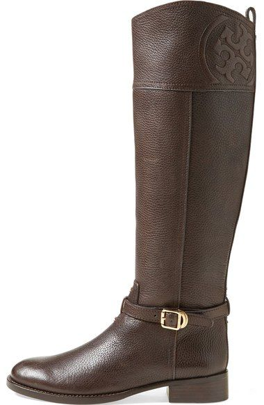 8bd5b1a9207 Free shipping and returns on Tory Burch  Marlene  Leather Riding Boot at  Nordstrom.com. The perennially chic riding boot steps out in textured  leather with ...