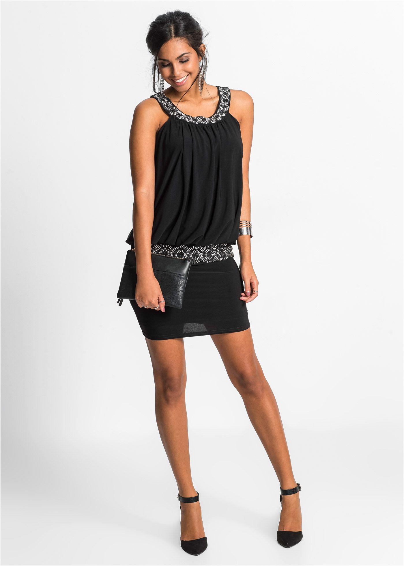 jetzt Kleid im Online Shop von bonprix schwarz Cocktail BODYFLIRT 8nPOk0w