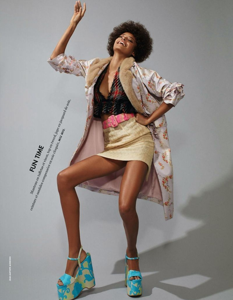 Elle França Março 2015   Malaika Firth por Jean Baptiste Mondino [Fashion]