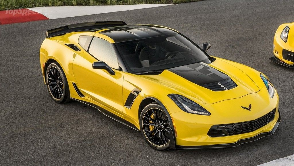 2018 Chevrolet Corvette Z07 Yellow sport (с изображениями