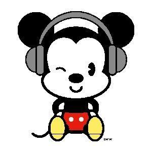 Mickey Mouse Kopfhörer Musik Mickeymouse Lachen Cartoons