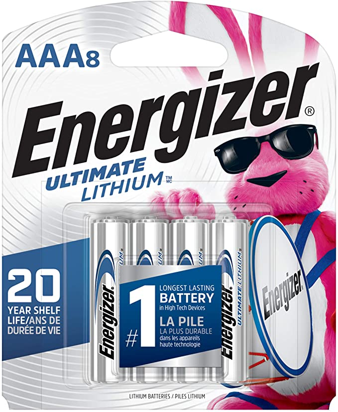 Amazon Com Energizer Aaa Lithium Batteries Ultimate Lithium Triple A Battery 8 Count Longest Lasting Aaa Battery He Batteries Energizer Battery Energizer
