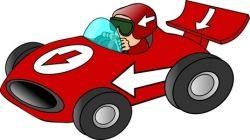 Scheibengardine Kinderzimmer Auto Formel 1 Rennauto Rally Autorennen Kinder