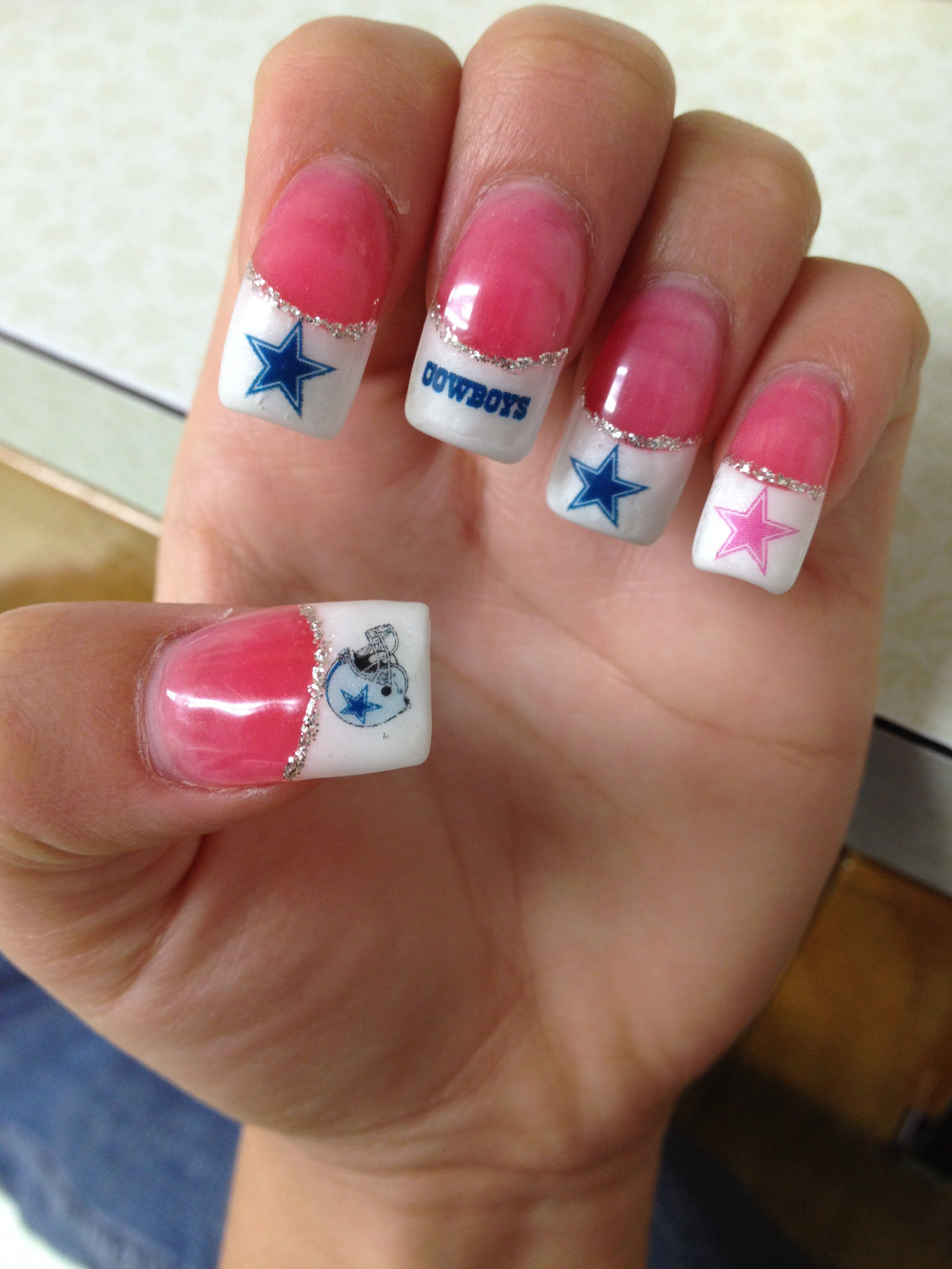 Dallas cowboys nails | My favorite Dallas cowboys items | Pinterest ...