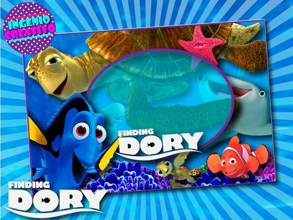 Finding Nemo Blank Invitations Dory Invitation By