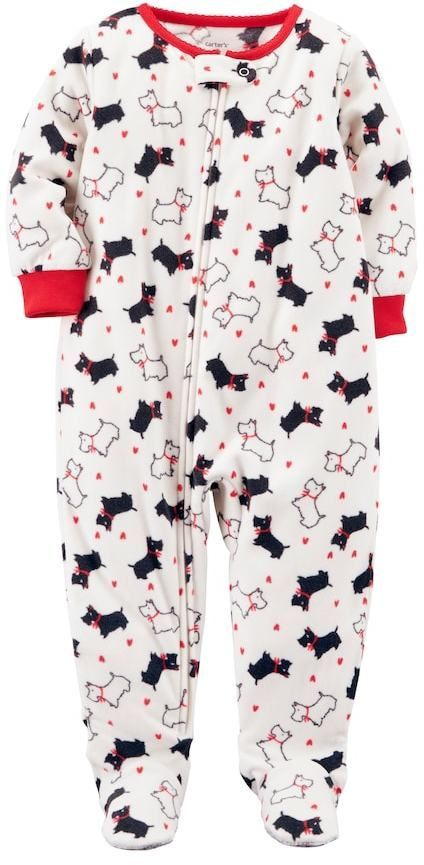 95de80fb007b Carter s Toddler Girl Scottie Dog Fleece Footed Pajamas